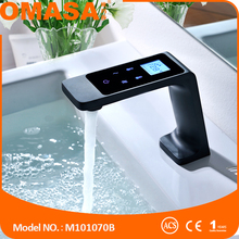 Sanitary ware latest thermostatic faucet black electrical basin mixer