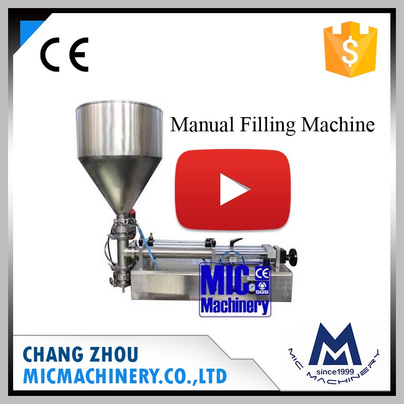 Micmachinery Small Manual Pepper Chili Sauce Hexagonal Glass Bottle Filling Machine