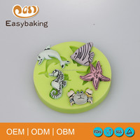 Flexible Eco-friendly silicone fish shape cake mould