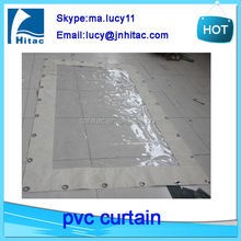Cold resistant industrial pvc door curtain made of polyester vinyl fabric