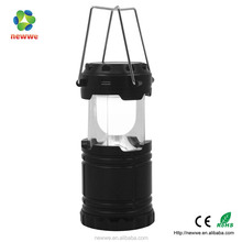 6 LED outdoor ABS portable handing retractable solar led lantern solar lantern with lithium battery