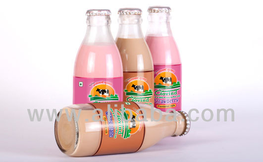 Flavored Milk Glass Bottles