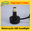 wholesale electrical motor headlight 12v dc 4 sides car motorcycle headlight