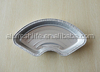Professional manufacturer made Recyclable fan Shape Aluminium foil container R30085