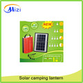 5W Solar LED camping lantern with solar panel