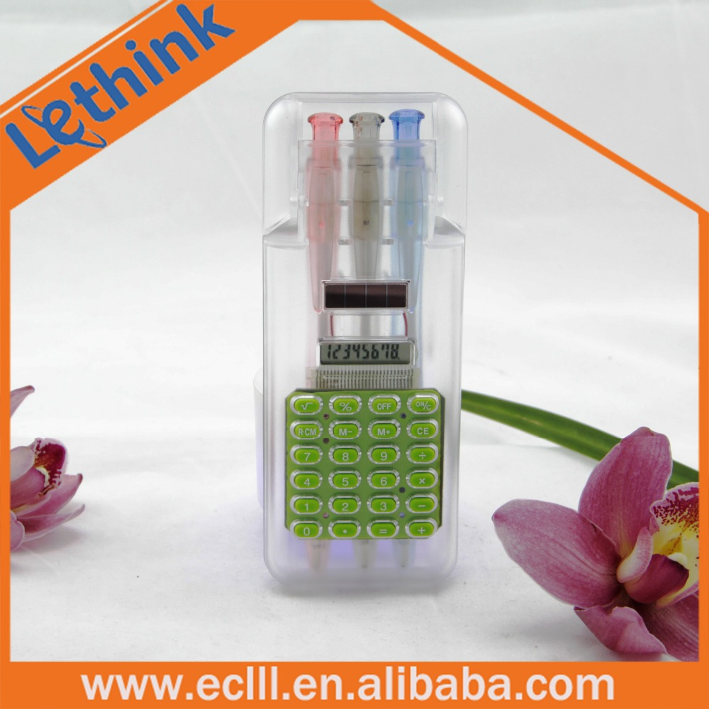 Versatile plastic calculator pencil case with 8 digits solar power Calculator