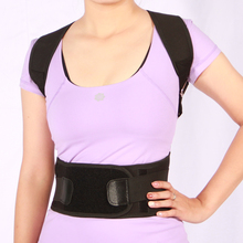Factory supplied ajustable shoulder back posture correction support and protector belt for excellent kyphosis correction