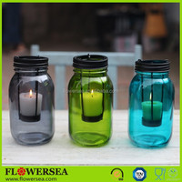 European classical design colored glass candle holders for wedding table centerpieces