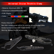 universal cruise throttle clamp to release your hand free on freeroad at special situation