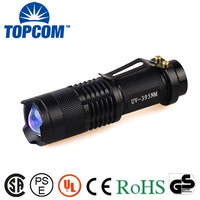 Mini Pocket UV LED 395NM Ultra Violet Zoomable UV Black Light Torch
