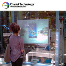 Chariot interactive touch screen foil 32 inch, capacitive rear adhesive touch film, touch table foil for glass