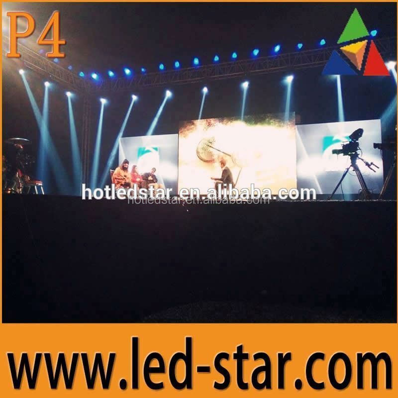LEDSTAR 2016 outdoor p4 led display for stage background video wall from China