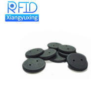 HF RFID high temperature rfid tag / button for textile industry OEM service