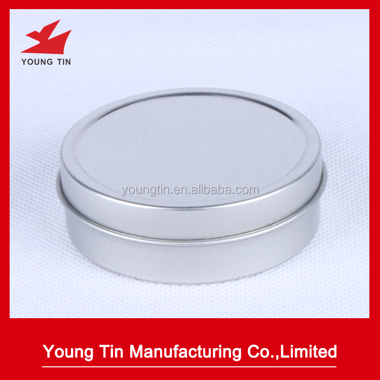 Blank round metal tin box survival kit container