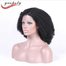 Natural Looking afro kinky curl Hair Wigs Cheap Short Bob Virgin Brazilian Human Hair Full lace Wigs For Black Women
