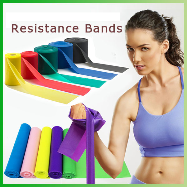 Gym Fitness natural latex rubber stretch band/sheet