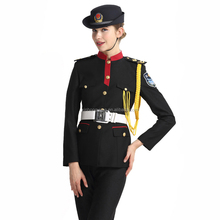 black color security guard uniforms, new style marching band uniform