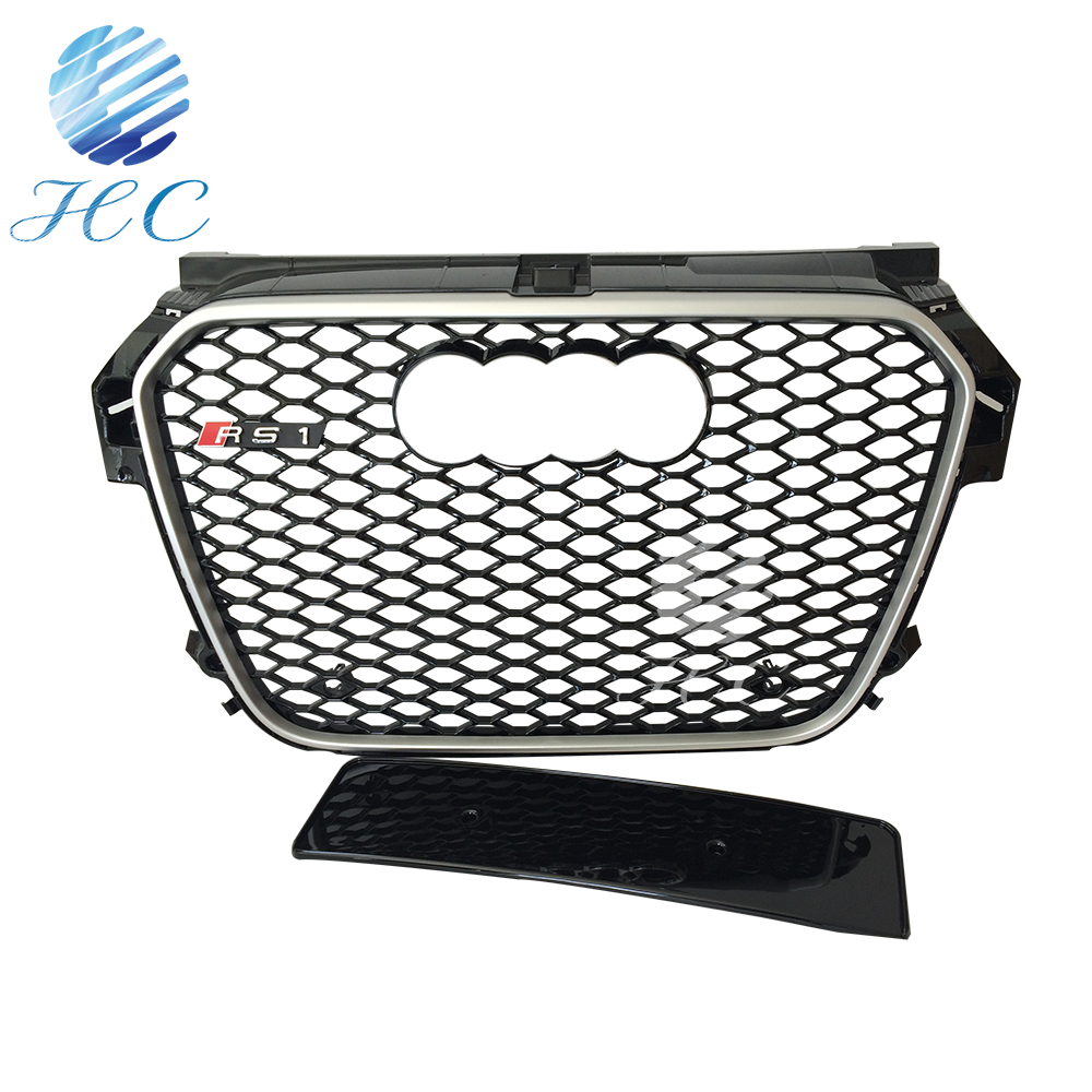 Hot sale car bumper front grille with honeycomb mesh for audi a1to rs1