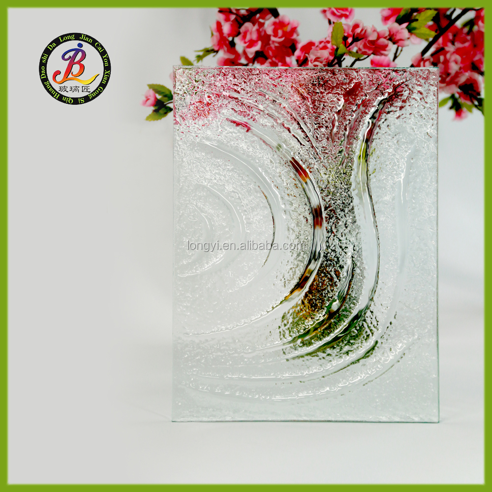 Decorative clear casting glass for entry door