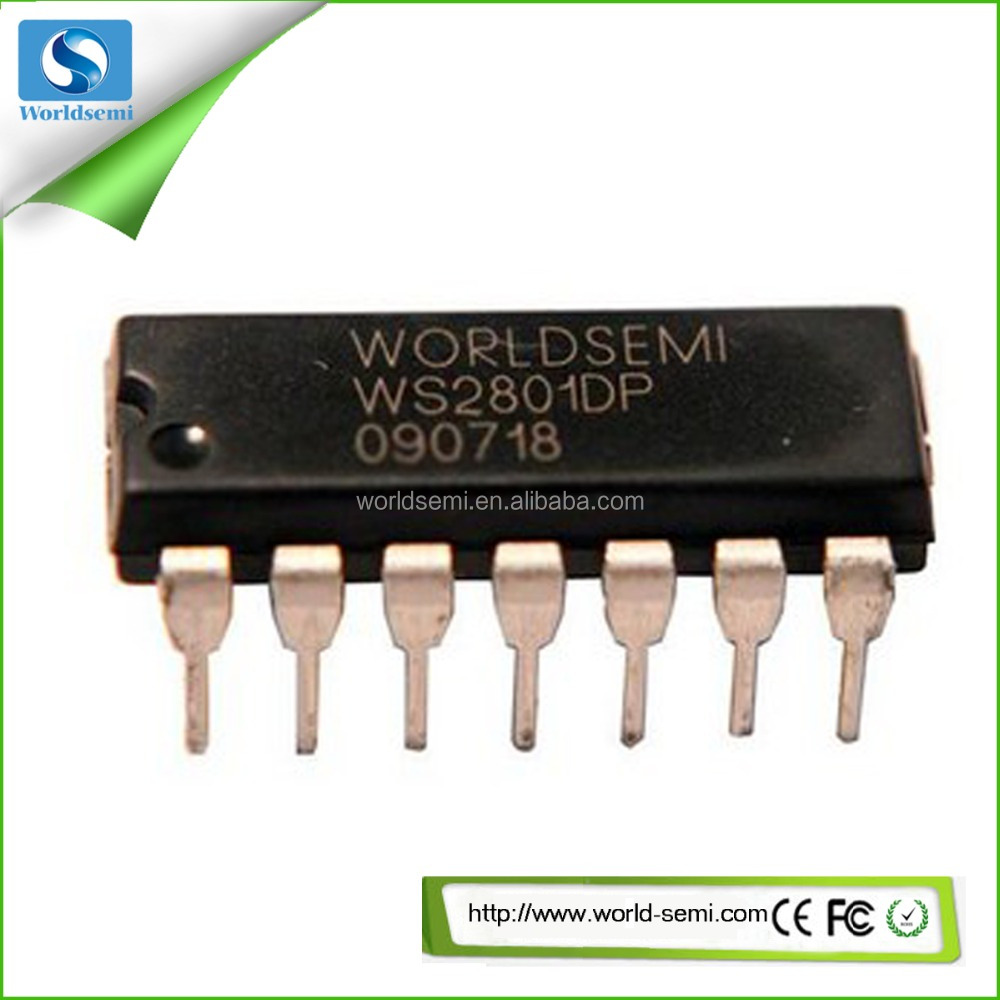 (ic Suppliers) Ws2801 Single-wire Three-channel Constant Current Led Driver Ic With Pwm Rgb Led Driver Ws2801 Ic Chip