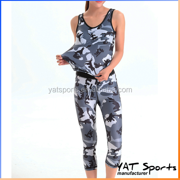 factory low MOQ. Ladies fitness custom sublimation yoga clothing