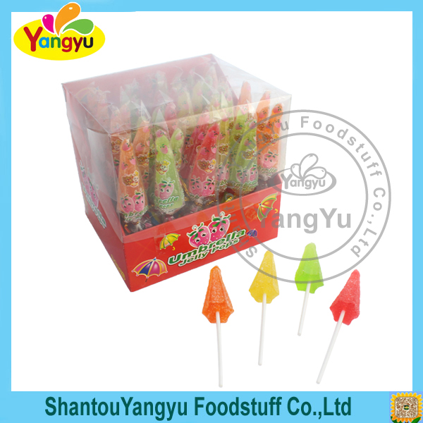 Halal gummy lollipop umbrella jelly pop soft candy lollipop