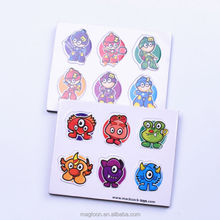 cute cartoon little man and animal design die cut EVA fridge magnet stickers for kids toys