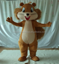 big long tail squirrel mascots adult brown squirrel costume