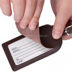 Customized Personalized Genuine /Cow/Real Leather Luggage Tag