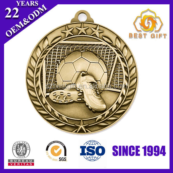OEM Football Medal - Engraved Economy Style