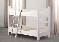Lovely white Wooden bunk Bed for kids Strong wooden bunk bed bedroom furniture for kids