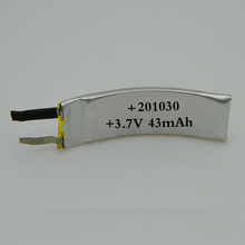 Custom battery pack 3.7V samall lipo curved battery cell for smart devices with factory price