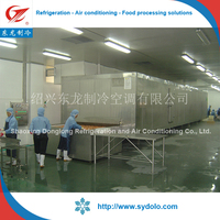 fish seafood deep freezer machine/chicken feet tunnel freezing equipment/iqf quick freezer