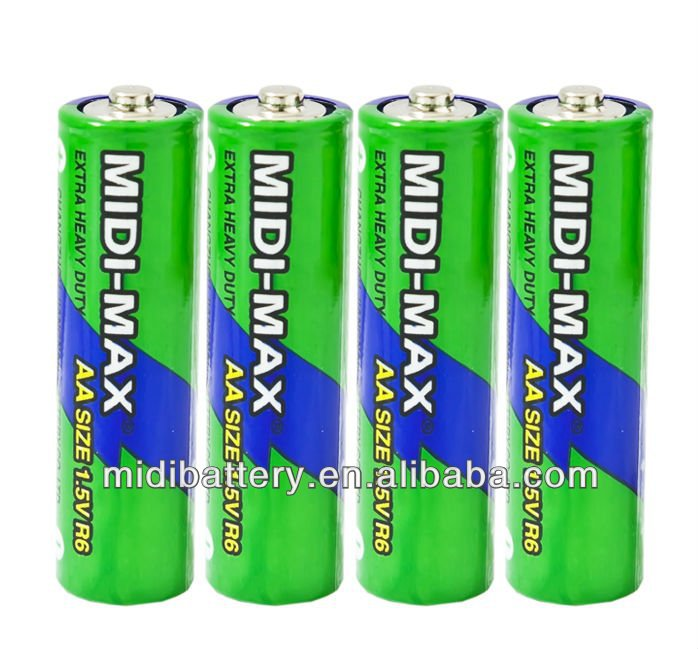 heavy duty Midi-Max zinc-carbon AAA R03 um-4 dry cell battery