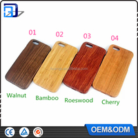 New arrive wholesale for iphone 6 wood case, cherry roes wood walnut bamboo blank wood phone case for iphone 6 6 plus