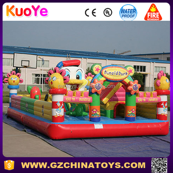 donald duck inflatable trampoline park for kids funcity playground