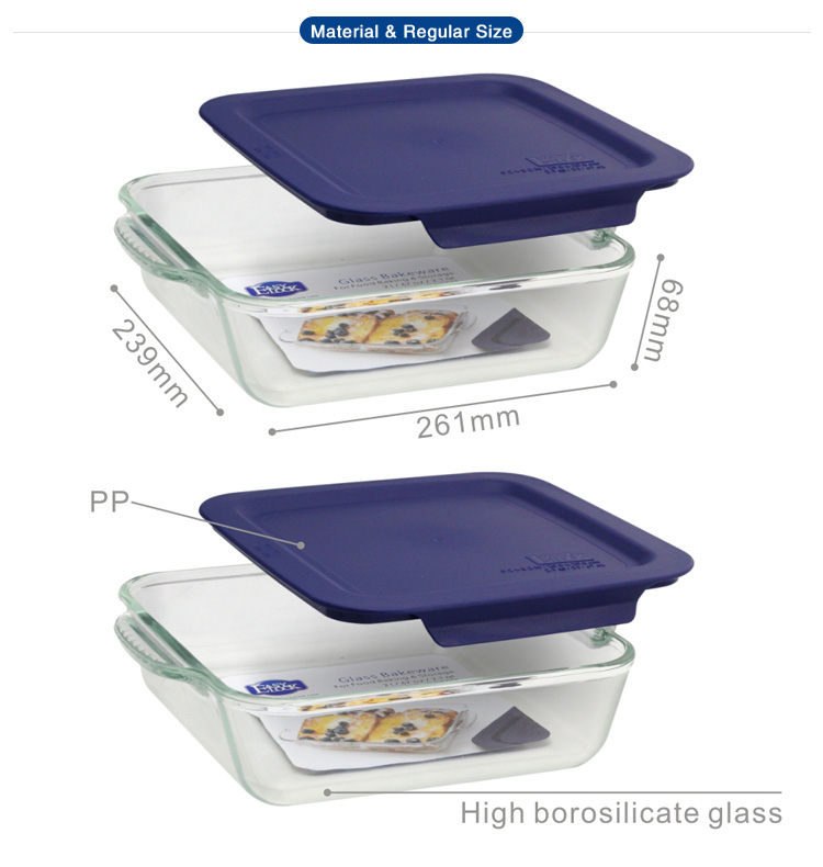 9 x 9 inch Extra Large Square Glass Baking Dish/Pan/Tray