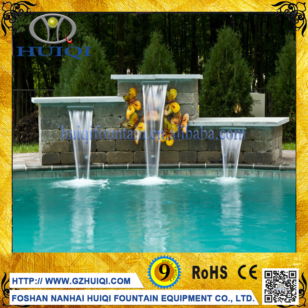 Indoor & Outdoor Colorful Water Waterfall Wall Fountain Decoration for Sale