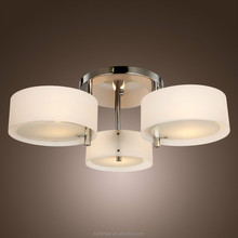 Acrylic Chandelier with 3 lights Chrome Finish lighting Ceiling Light for Living Room Hallway Bedroom RT8340
