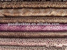 75D polyester animal print satin fabric