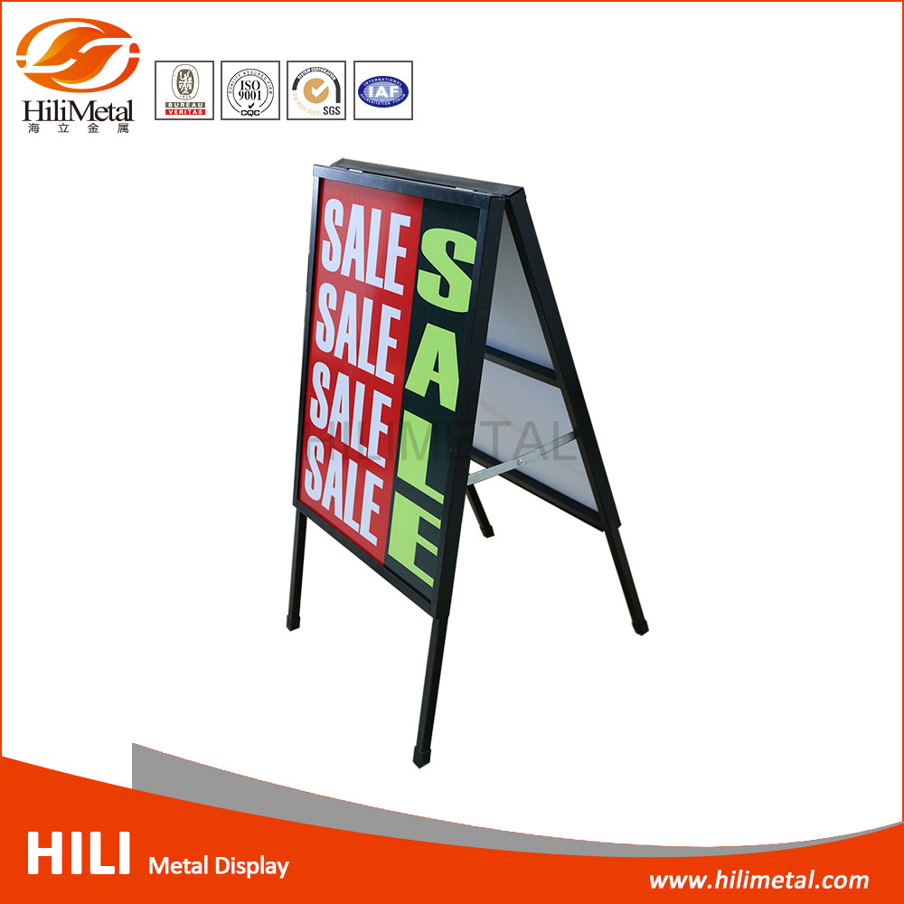 Sidewalk A Frame Advertising Poster Holder Floor Stands