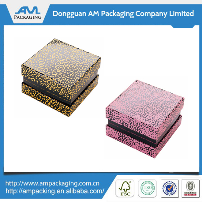 Custom Luxury Leather Paper Jewelry Display Box Made in Dongguan