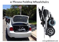 Simply the best E Throne ,8'' ,10'' ,12'' Lightweight Portable Folding Electric Power Wheelchair scooter