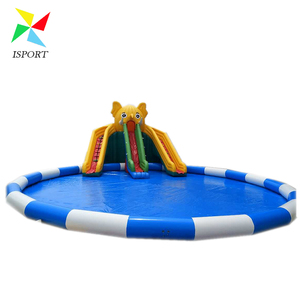 Elephant inflatable water park swimming pool slides /Factory price lovely elephant inflatable water slide with swimming pool