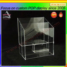 clear cheap acrylic CD/DVD holder stand,disks display wholesale