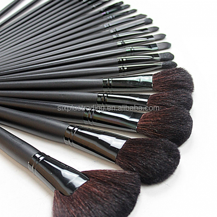 Famous high quality 24pcs black makeup/cute cosmetic brush set