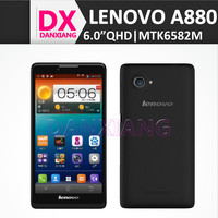 Lenovo A880 MTK6582M Quad Core 5MP Camera 1GB RAM 6 Inch QHD Touch Screen 3G Mobile Phone