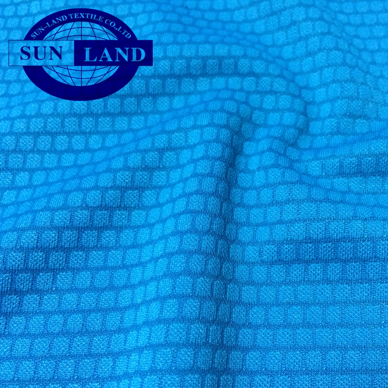 polyester weft knit jacquard interlock soccer sports fabric