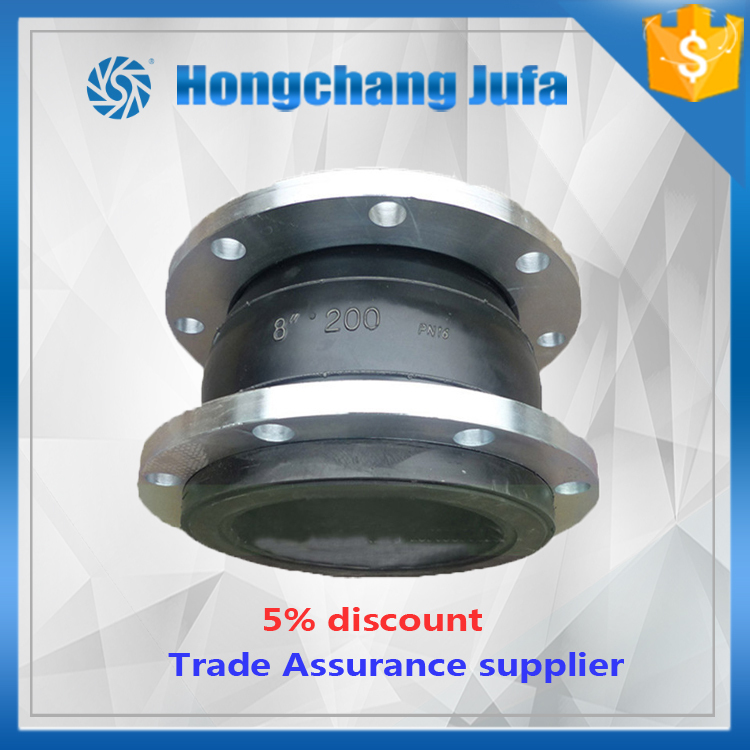 2inch double sphere galvanized bspt union type rubber expansion joint