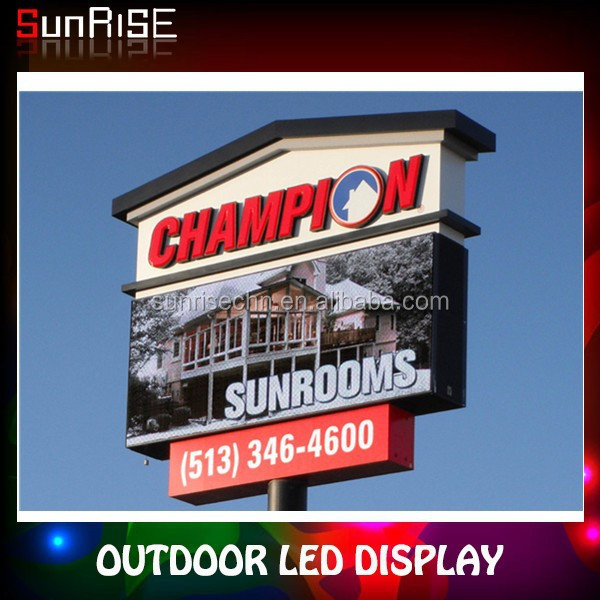 2014 high quality low price led sign p5,p6,p10,p12,p16 outdoor led large screen display